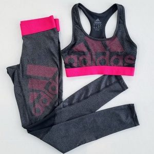 Adidas Alphaskin Racerback Sports Bra & Leggings
